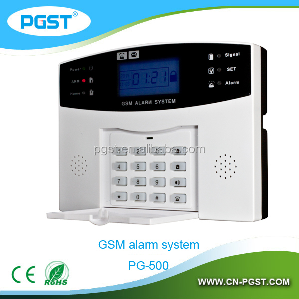GSM alarm system for home and garage security with smoke and PIR sensor