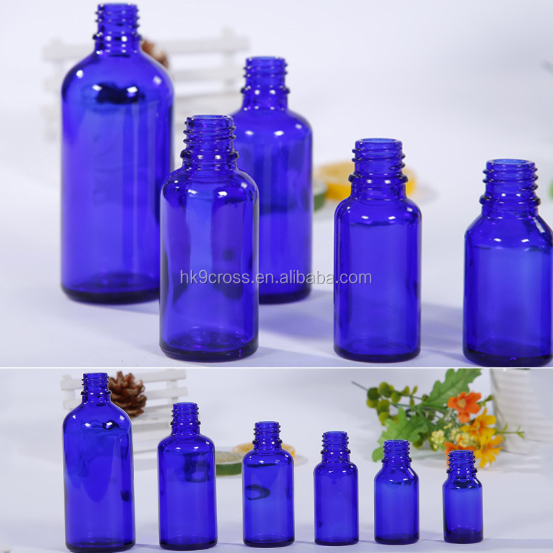 Blue Glass Liquid Reagent Pipette Bottle Empty Eye Dropper Aromatherapy Tools 5/10/15/30/50ml Glass Liquid Pipette Empty Bottle