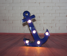 lighted metal marquee sign- purple anchor