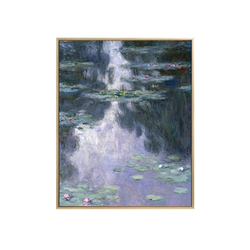 World Famous High-Grade Monet Decorative Painting , Water Lilies Living Room European Landscape Entrance Vertical Oil Painting
