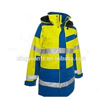 High quality Men winter Hi Vis waterproof 3M reflective jacket with reflector
