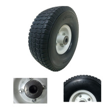 Manufacturer 10' pneumatic tire 4.10/ 3.50-4 10 inch air wheel for hand truck/trolley tool cart