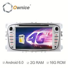 Wholwsale ownice Quad core android 6.0 car stereo for Ford Focus 2007 - 2010 support rear camera dvr Mirror