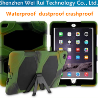 silicone+pc for 9.7 inch ipad covers tablet pc for ipad air case for ipad air 2 waterproof dustproof