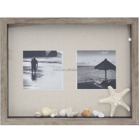 INTCO seascape photo shadow box glass memo board