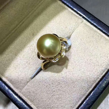 2017 New Arriving 18k About 10mm Golden Jewelry Ring From Nanyang