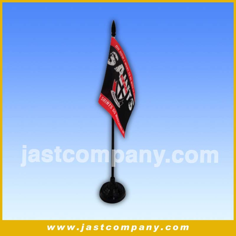 High quality table top flag pole with music