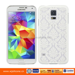 Rubber Coating Laser Engraved Customized Cell Phone Cover for Samsung S5