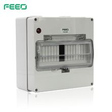 CE 8 Way Din Rail power IP67 Plastic Waterproof Outdoor Distribution Box
