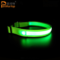 Rechargeable Pet LED Flashing Light Up Glow Adjustable Safe Dog Collar