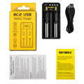 BASEN BC2 intellgent 2A fast battery charger with USB output black BASEN usb charger