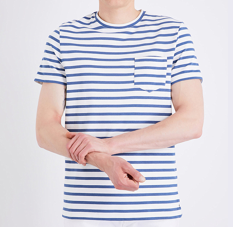 Custom 100% cotton blank stripe t shirts high quality for men O-neck New 2017