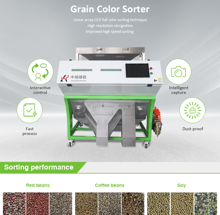 High Capacity Optical Large Grain Color Sorter For Sale