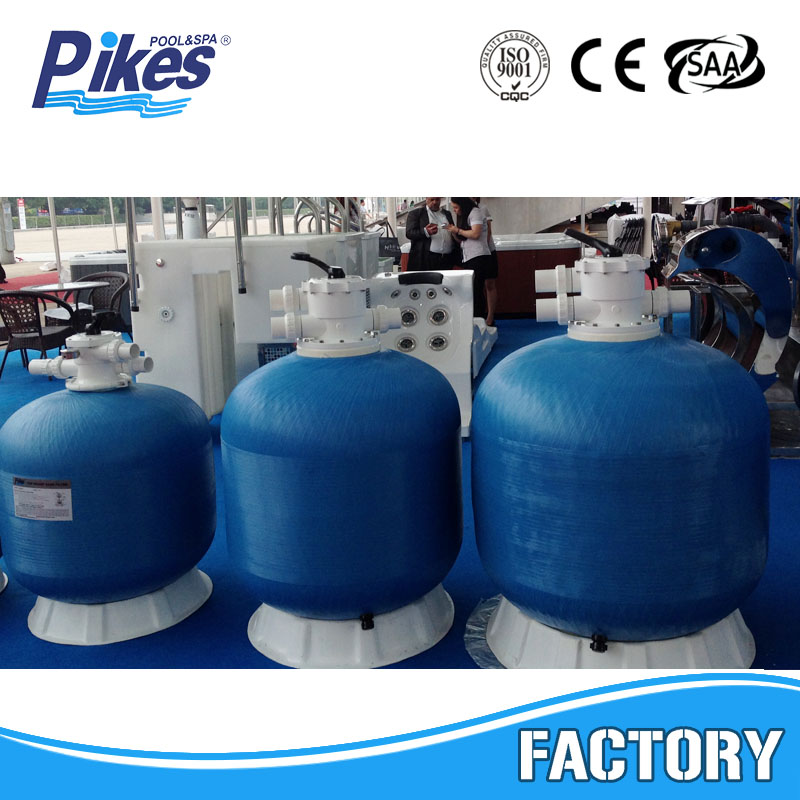 China Manufacturer Pikes Top mount swimming pool FRP quartz pressure sand filter for sale