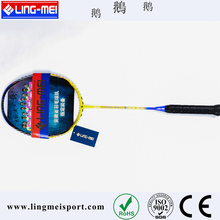 Flexible light weight full carbon graphite badminton racket