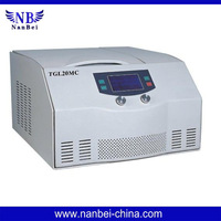 Microprocessor control, LCD indicates all the parameters in running.TGL20MC Table top high-speed refrigerated centrifuge
