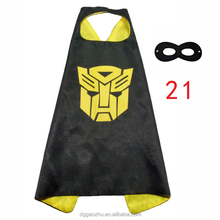 popular movie superhero Transformers children costume party carnival kid cosplay eye Mask Cloak