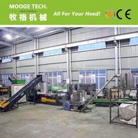 PE PP HDPE LDPE Waste plastic film granulator / plastic pelletizing machine