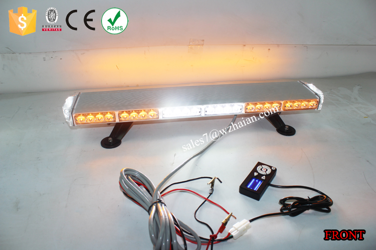 Single Row LED Amber Emergency Mini Lightbar/Warning Flash LED Mini Light Bars for Cars TBG-506-6C4