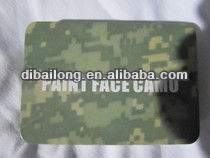 military wargame four colors paint face camouflage camo skin oil