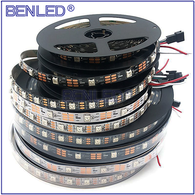 Premium WS 2812B Pixel DC 5V Addressable Ic Built In Chip Full Color RGB Flexible LED WS2812B IC Strip Reel