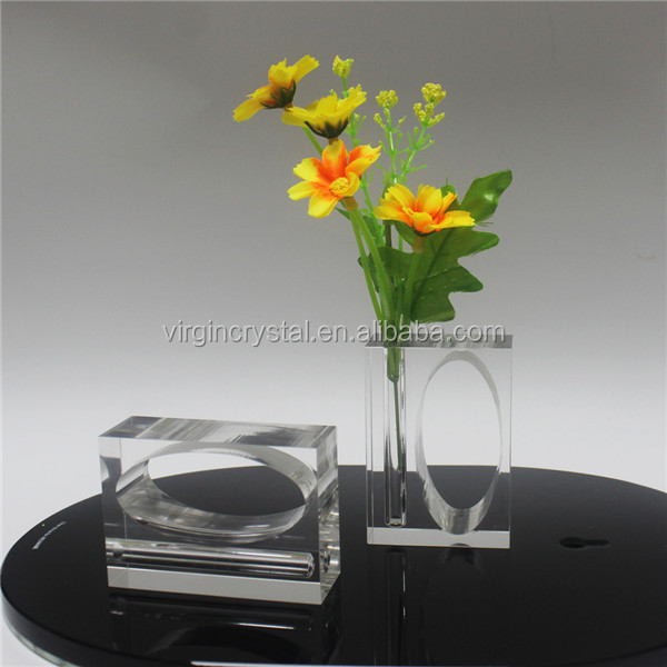 Hot selling rectangle shape acrylic napking ring holder with rose flower for wedding favor wholesale