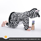 1 PC Children Unisex Boy Girl Pajamas zebra Pijamas Flannel Pyjamas Kids Onesie Sleepwear Hoodie kigurumi