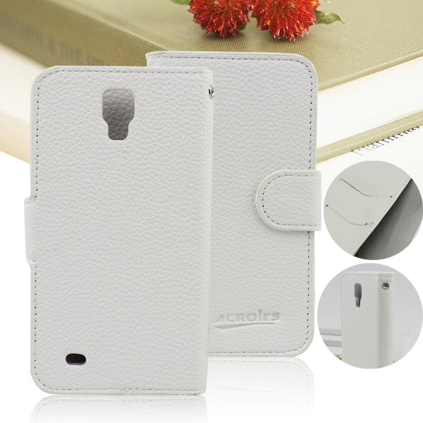 Small MOQ Wholesale Smart Cover Wallet Flip Leather Case for Samsung Galaxy S4 Active I9252 (8 Colors for choose)