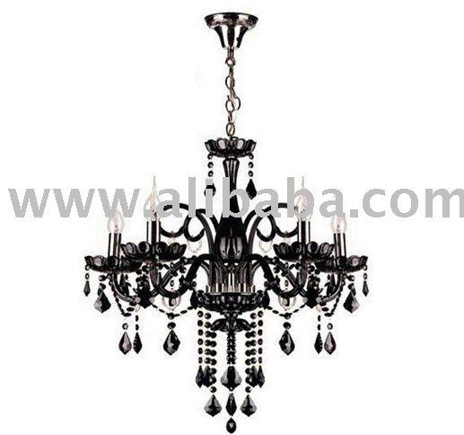 moderne schwarze h ngende helle deckenleuchte kristallbefestigung deckenleuchte produkt id. Black Bedroom Furniture Sets. Home Design Ideas
