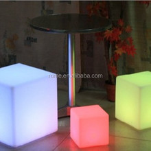 LED Glowing Cube Furniture with Light Color Change/Led Furniture Cube