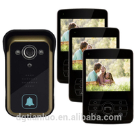 3.5 Inch Colorful LCD Touch Key Video Doorbell /Video Door Phone For Home Security ,With Crystal Clear Pic