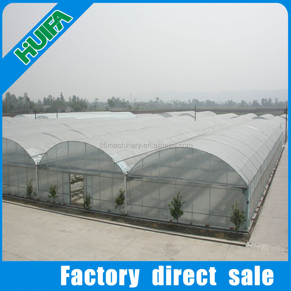 Hot galvanized steel pipe and plastic film greenhouse roofing material