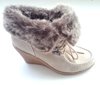 Nice design woman winter fur boots