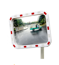 Acrylic Parking Driveway Exit Mirror Rectangular Traffic Convex Mirror