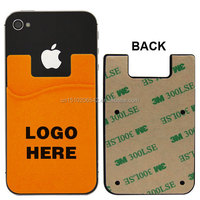 Promotion gift silicone 3m sticker smart wallet mobile card holder