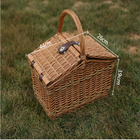 Buy Wholesale rectangular grey willow/wicker picnic basket for 4 ...