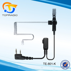 Topradio Walkie Talkie Acoustic Tube Transpare Headphone For KYD/Kydera NC-630A TK-750A TK-760A NC-560 NC-550 NC-6200A