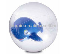 Inflatable Animal Inside Beach Ball, Inflatable Ball with Ball Inside