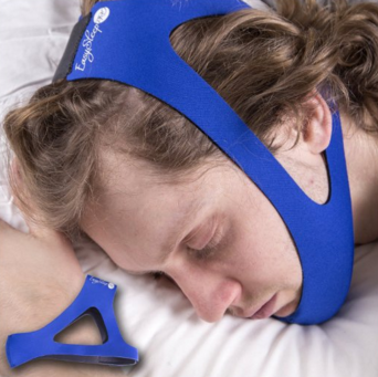 EasySleep Pro Blue Adjustable Stop Snoring Chin Strap Jaw Belt Sleep TMJ Support