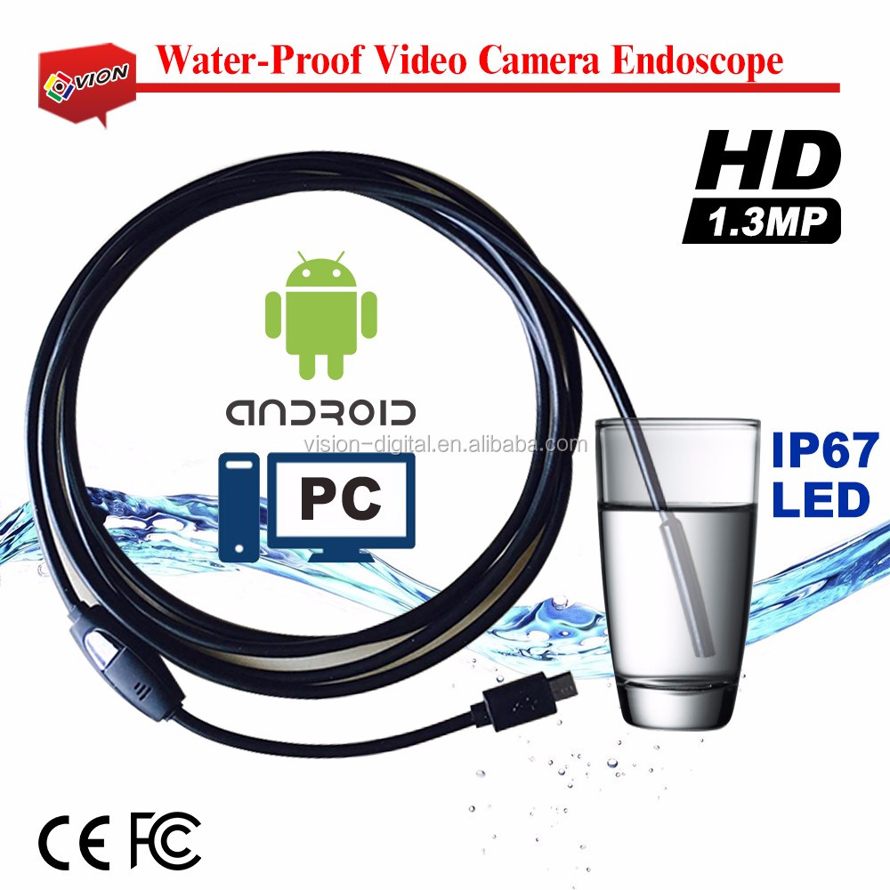 Waterproof IP67 for Android 2M glass fiber cable HD Endoscope Camera