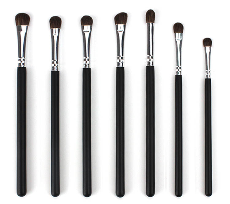 Hot Portable Sets 7 pcs Makeup Eye shadow Blending Brushes Eyebrow Eyeliner Lip <strong>Beauty</strong> Best for Gift