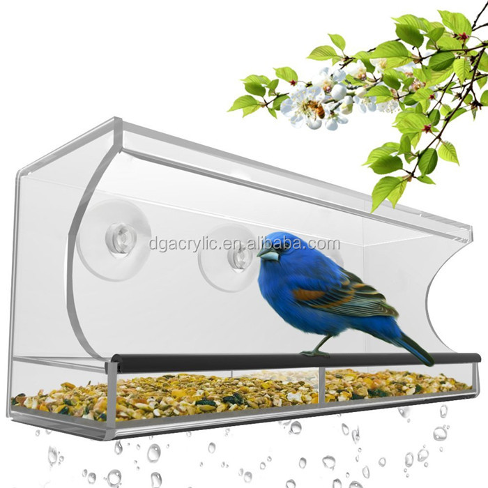 wholesale hanging acrylic bird feeder