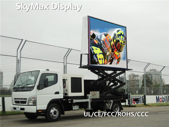 Truck Mobile DIP Outdoor Full Color Double Sides Led Movable Advertising Display
