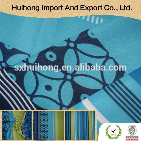 Shaoxing supplier Bed sheet use Microfiber printed georgette fabric