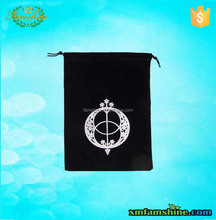 customized velvet jewelry bag /velvet pouch bag/velvet drawstring bag