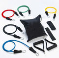 11pcs Resistance Band Set Men Women Fitness Exercise Pilate Yoga Workout Trainer