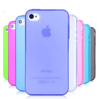 Durable Protective Pratical Consise TPU Silicon Phone Case Cover For Iphone 4/4S