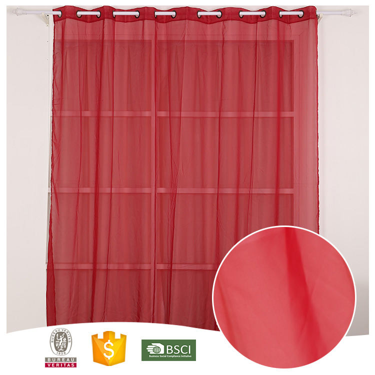 China Supplier Useful Black-out window through the rod designer sheer curtains