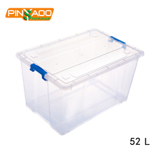 Reasonable price household plastic storage container with wheels 52L
