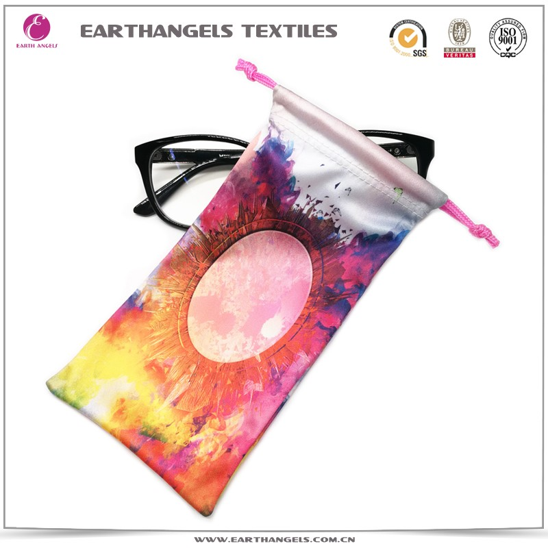 sublimation printed microfiber spectacle soft case,sunglasses pouch, kids glasses soft case